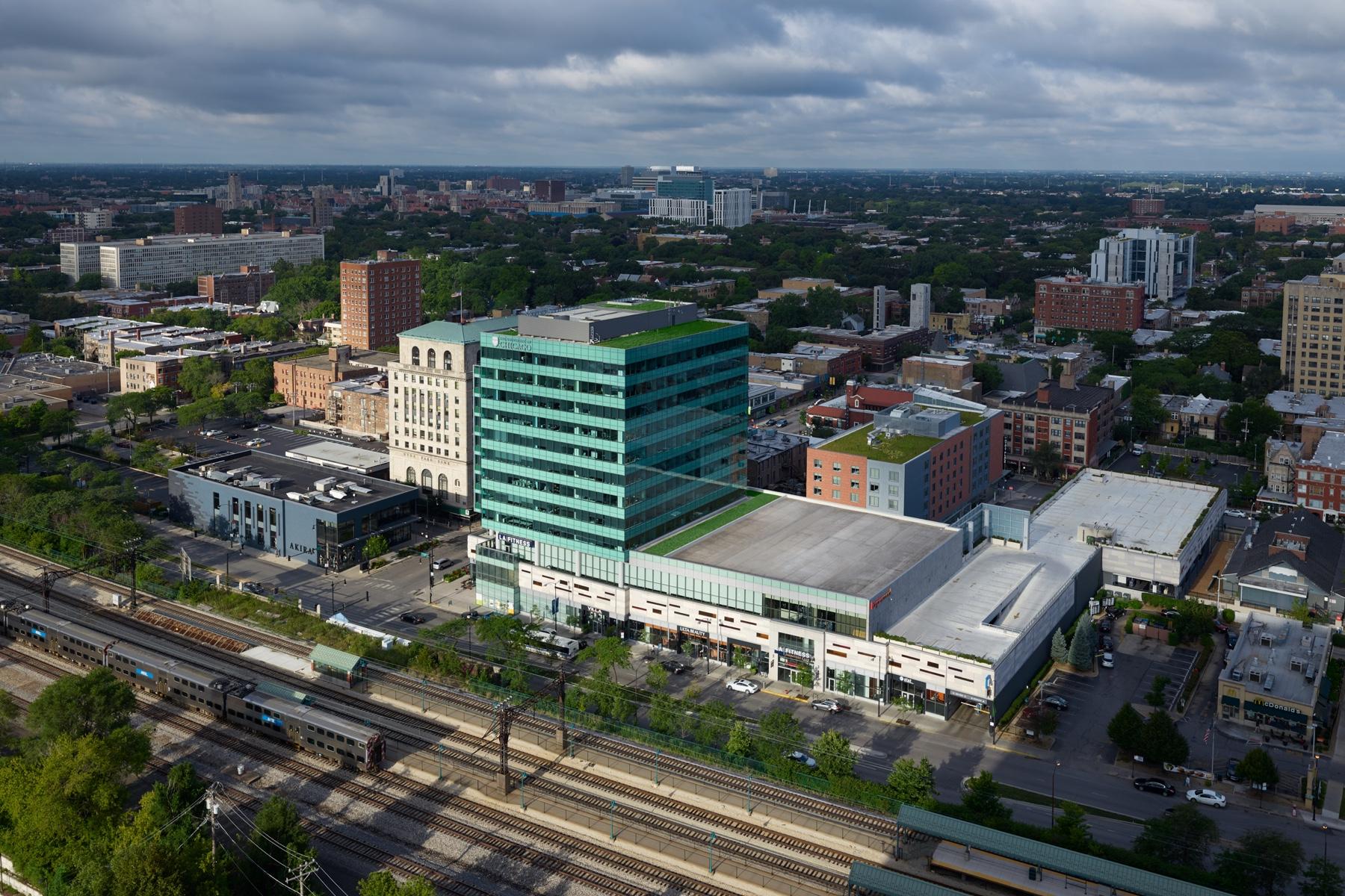 Harper Court Aerial View in Chicago, IL