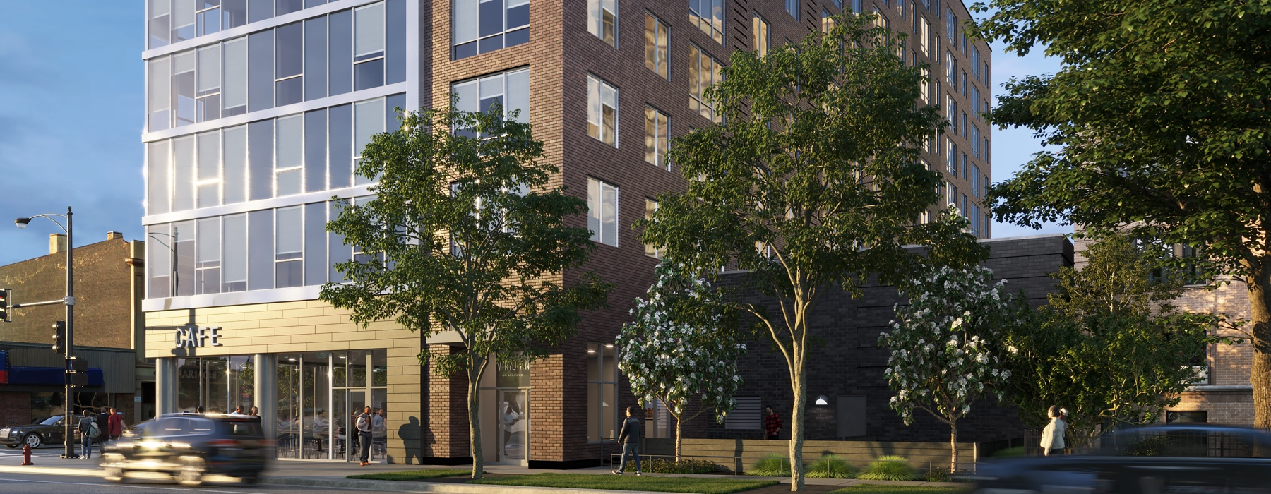 Veridian luxury residential building in Chicago IL